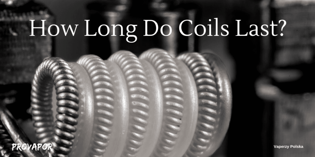 "Hero Image with overlay ""How Long do Coils Last and How to Make them Last Longer""."