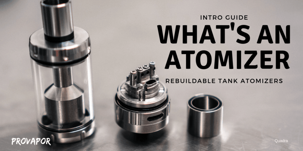 "Hero image with overlay ""What is an Atomizer?"" with an atomizer in the background."