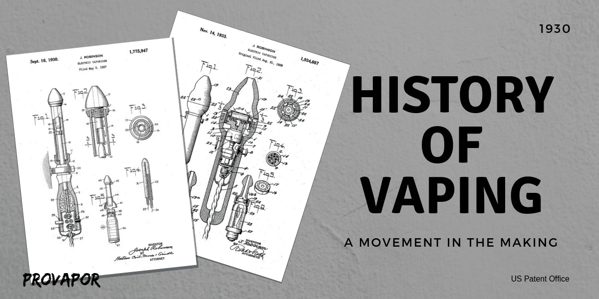History of Vaping from Creation to the Present Day