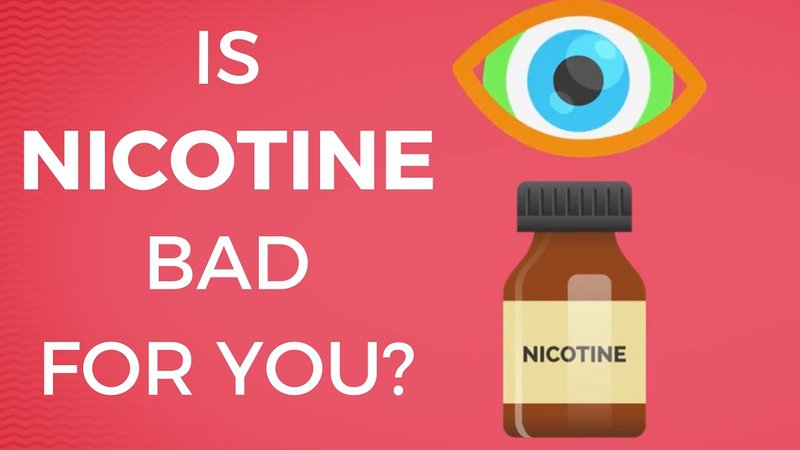 How addictive is vaping? An eye above a nicotine bottle on a red background