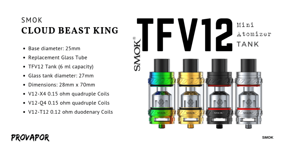 SMOK TFV12 Cloud Beast King 6ml Tank Product Review