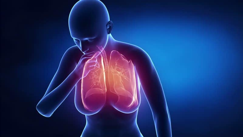 Wet lung x ray model of coughing