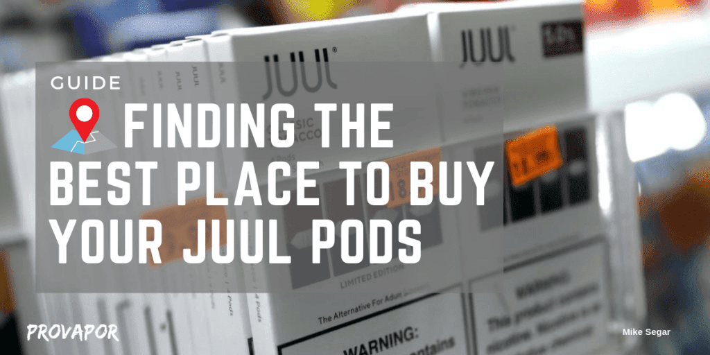 "Banner image with overlay ""Juul Pods Near Me: Guide on Finding the Best Place to Buy Your Pods"" with juul pods in the background."