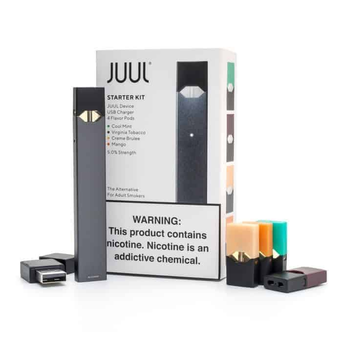 Juul Pods near me vaping device on a white background