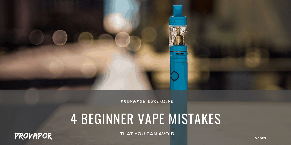 """Banner image with overlay """"4 Beginner Vape Mistakes that You Must Avoid"""""""