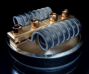 A clean vaping coil