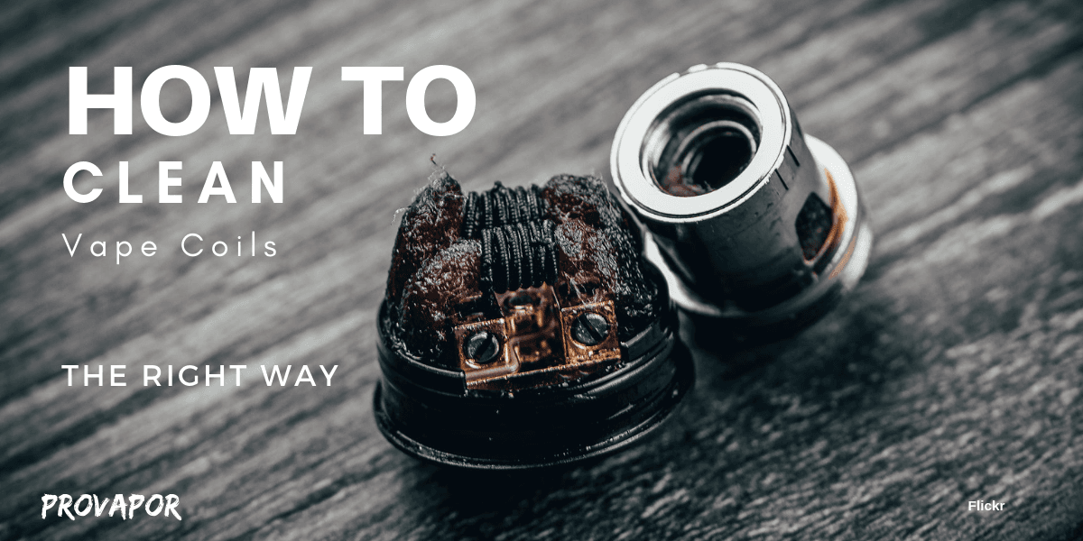 """Banner Image with overlay """"How to Clean Vape Coils: The Right Way"""""""