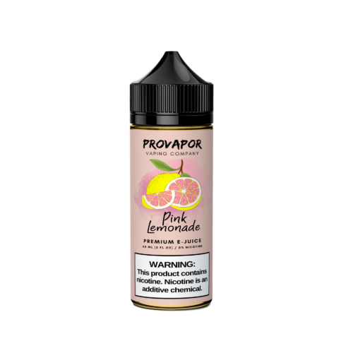 This image shows the ProVapor original pink lemonade e-liquid in the middle
